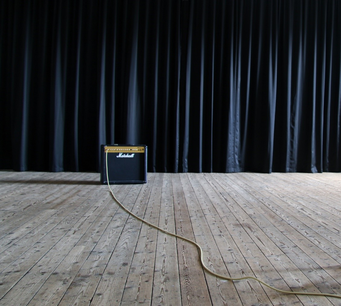 Marshall Amplifier and Curtain, Redeemer Central Church, 2016.